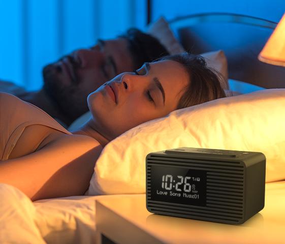 Dual Alarm & Sleep Timer