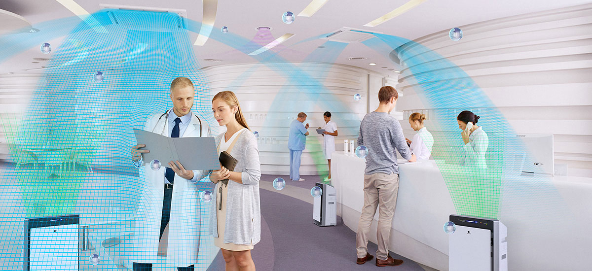 Image showing how outstanding air design helps make the clinic a comfortable environment for both staff and patients.