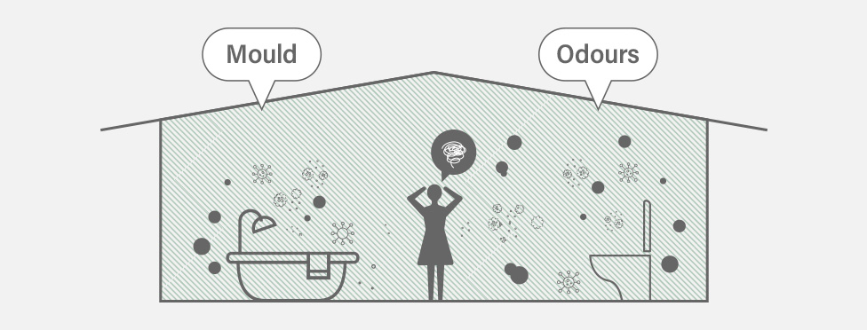 Image showing ventilation issues related to mold or odours in the bathroom.