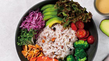 Colorful five-grain rice bowl