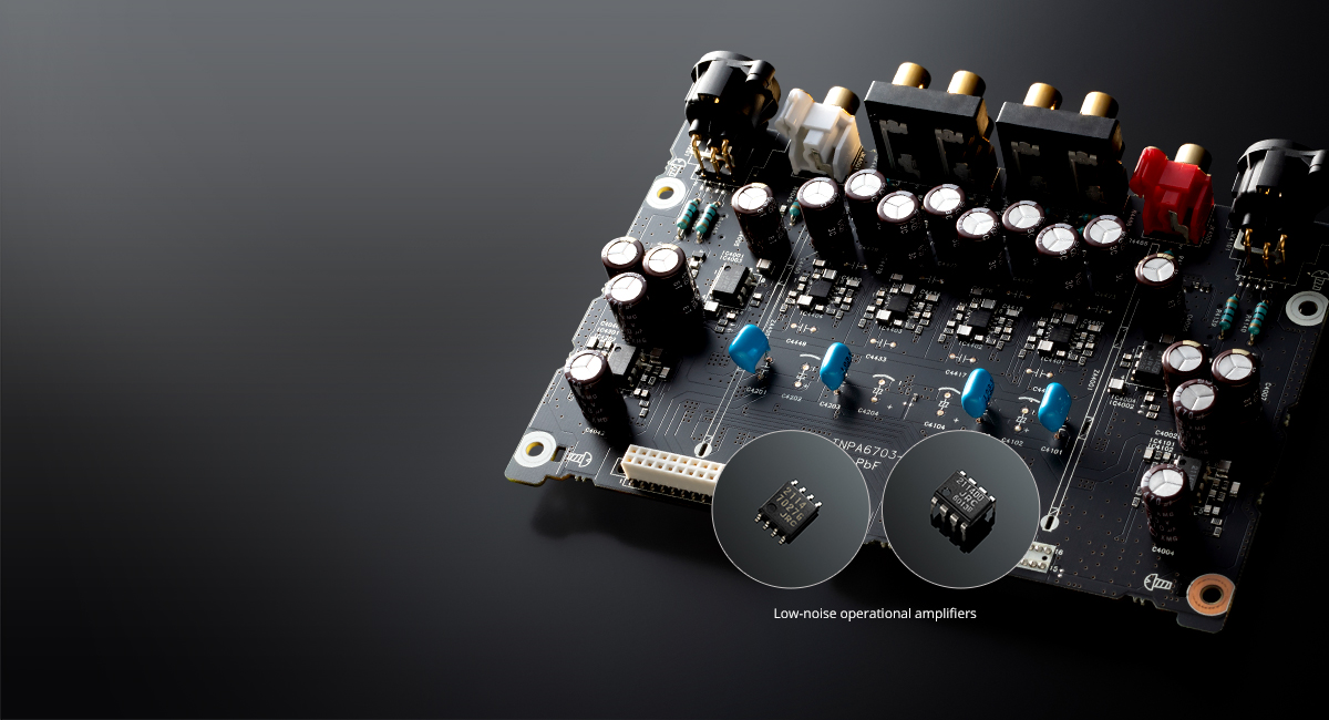 Carefully Selected Audio Parts Achieve High Quality Sound
