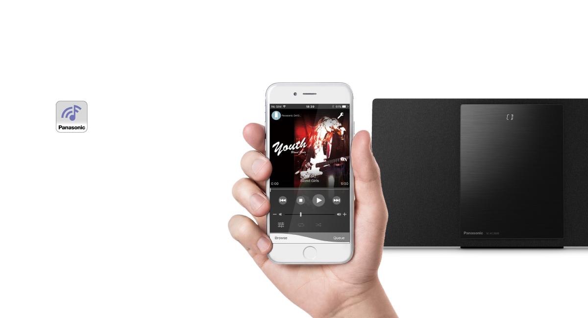 Nově vyvinutá aplikace Panasonic Music Control