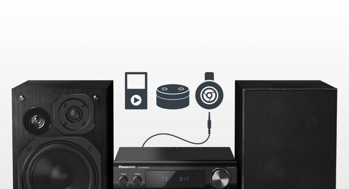 Funkce automatického přehrávání AUX-IN pro zařízení na přenos a streamování zvuku