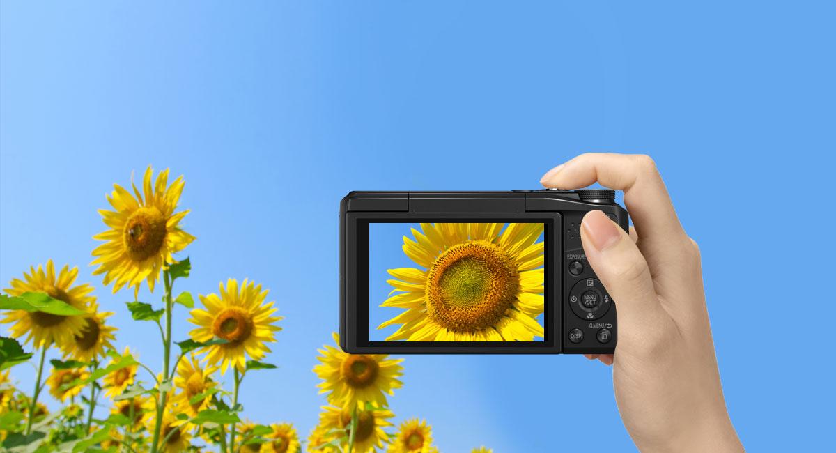Nádherné přehrávání fotografií na displeji LCD spřibližně 1040k bodů
