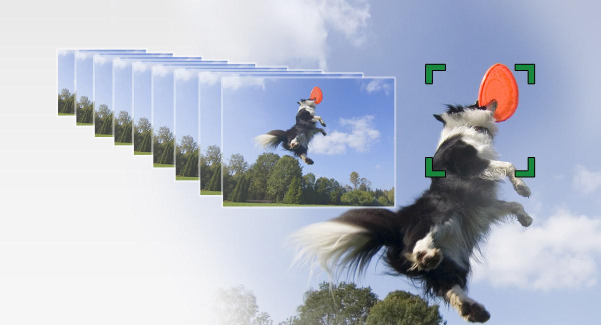 10 kép/másodperces sorozatfelvétel