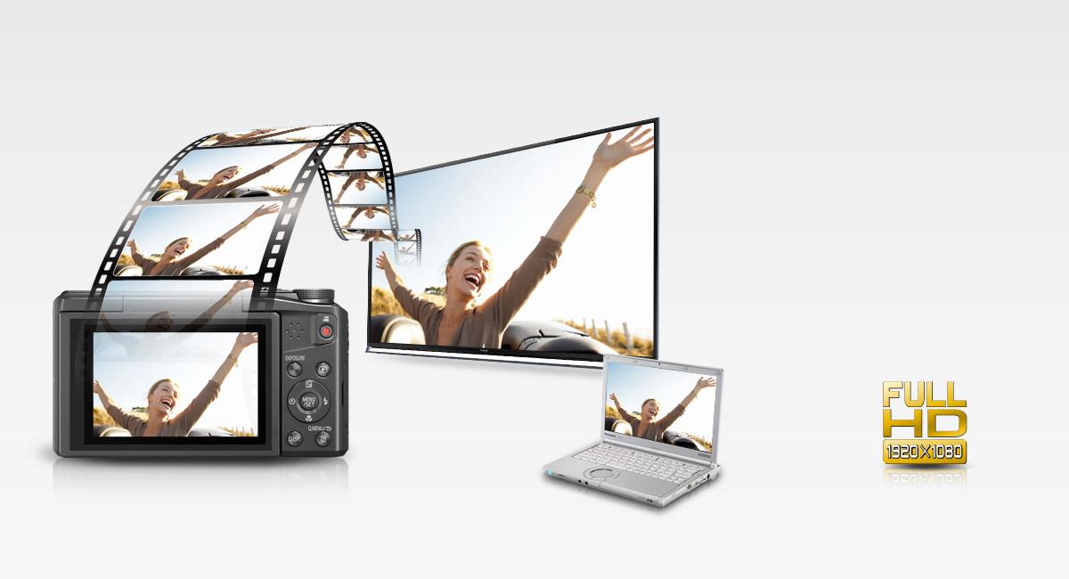 Full-HD minőségű videorögzítés MP4 formátumban