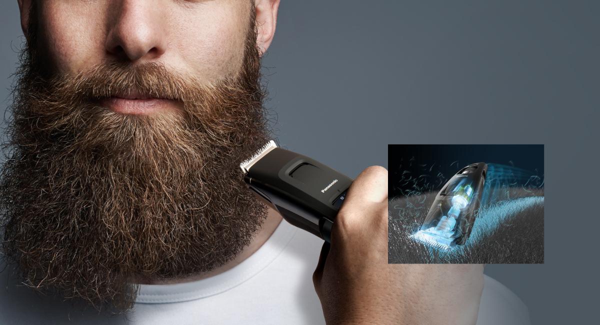 Glat klipning for skæg stilart som hos frisøren