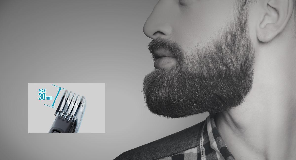 30 mm tilbehør til nem styling af lange skæg
