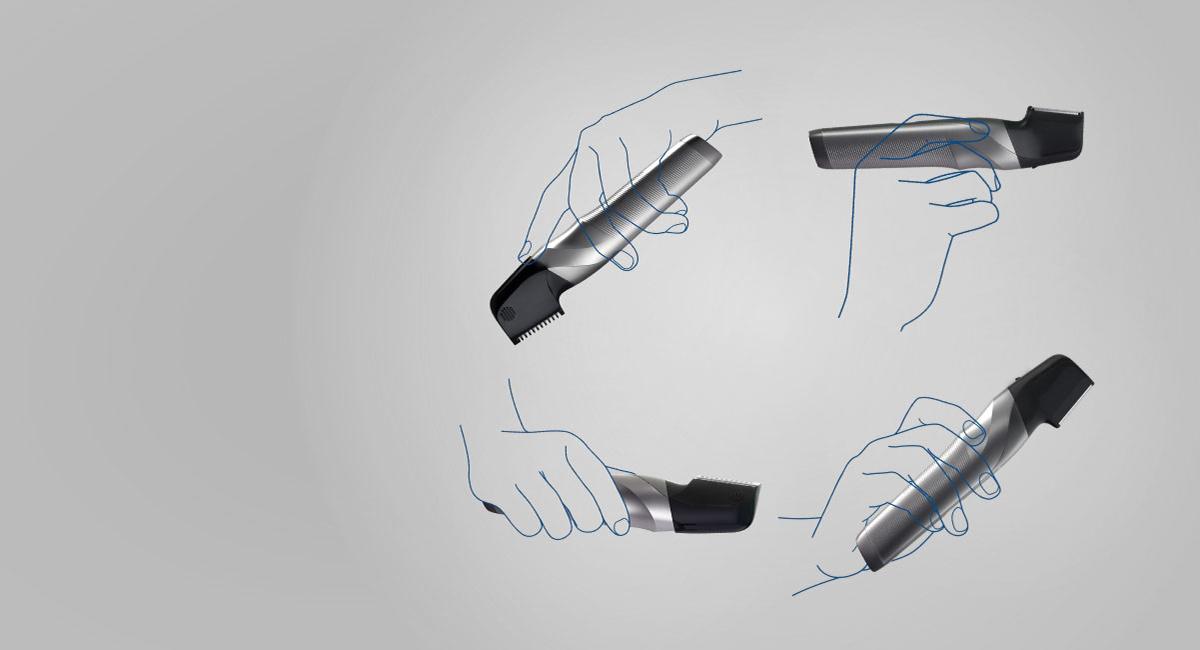 Az I alakú kialakítás részletformálásra és borotválkozásra is ideális