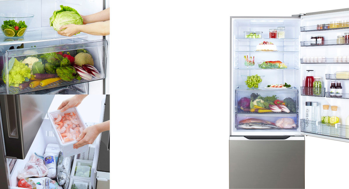 New Style of Refrigerator with Freezer at the Bottom