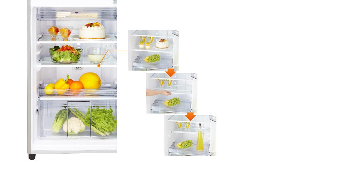 Foldable 1-2 glass shelf