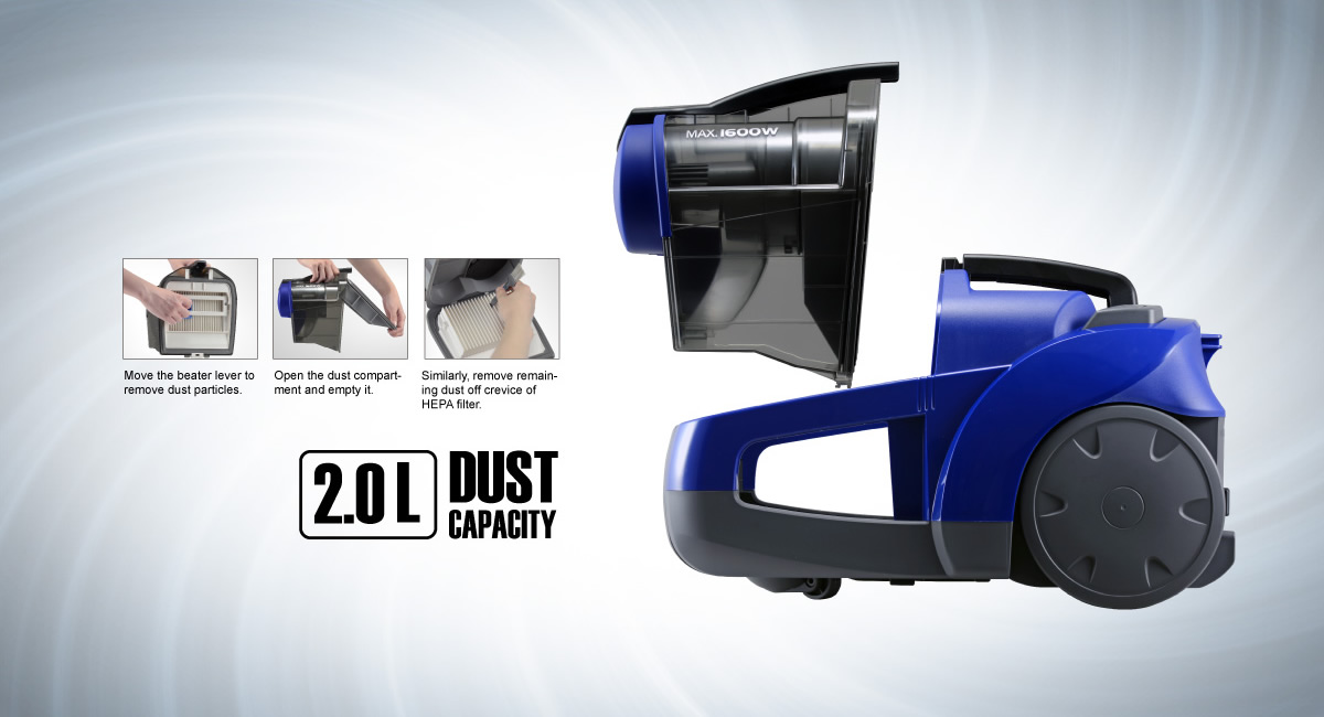 Easy To Empty Dust Compartment