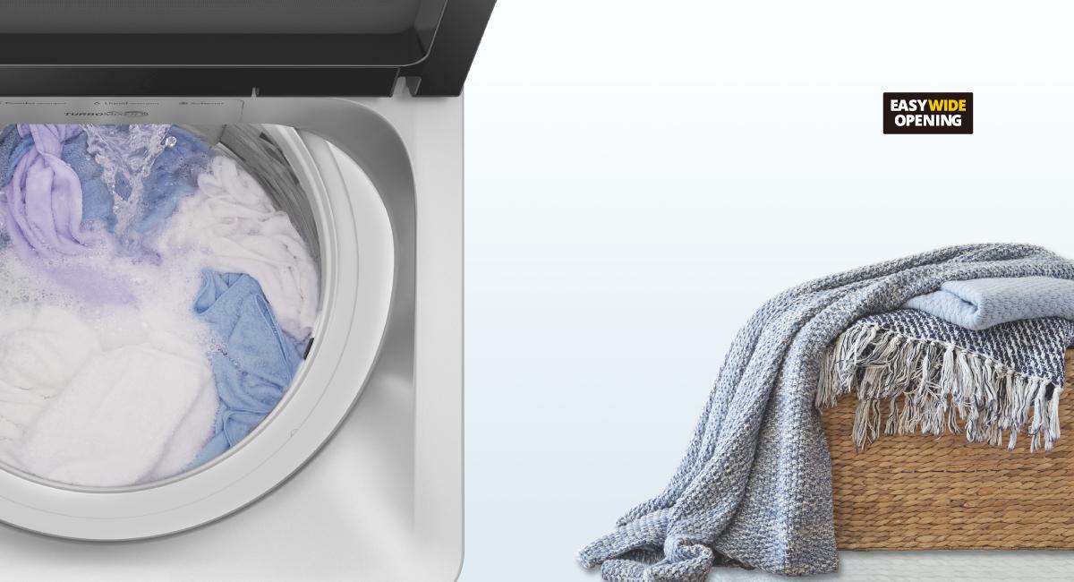 Giặt hàng ngày dễ dàng hơn Ngay cả với số lượng lớn