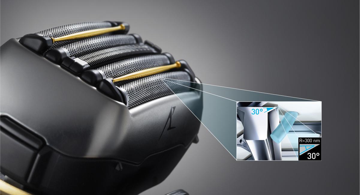 30˚ nano technologijomis apdoroti vidiniai ašmenys