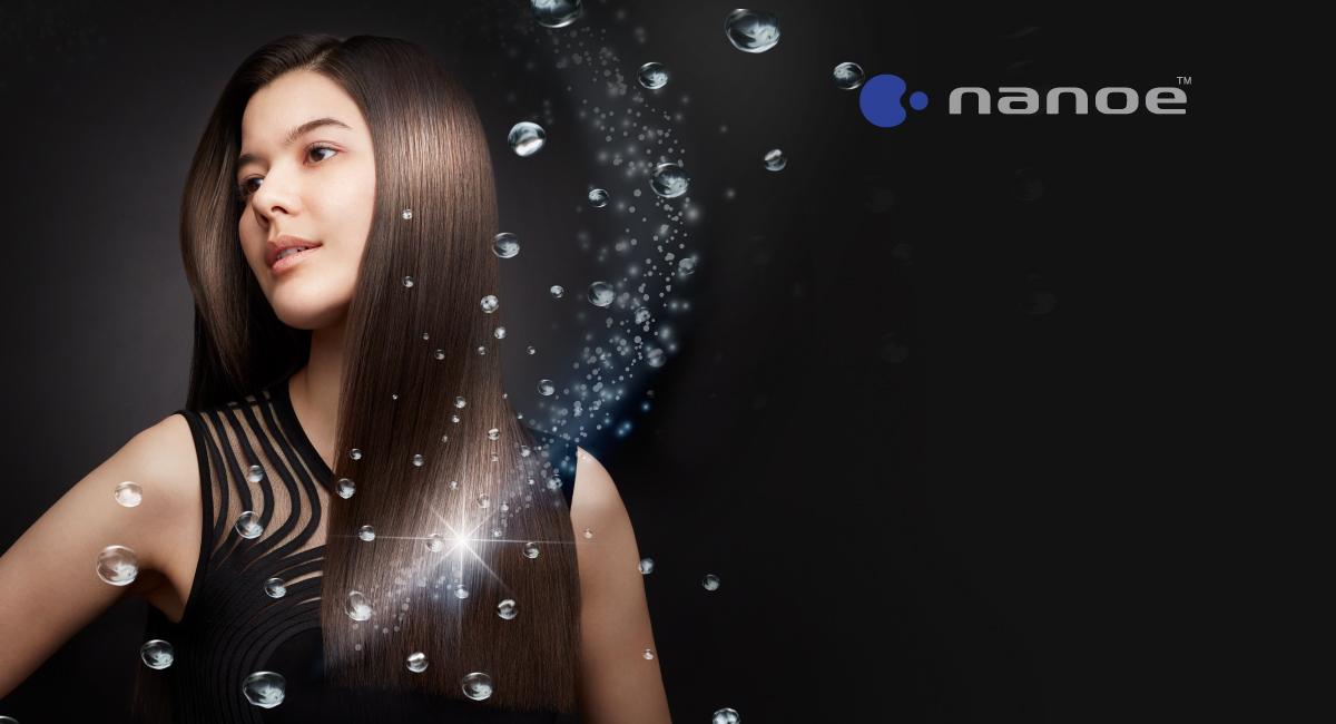 Moisturised, smooth, shiny hair with nanoe™
