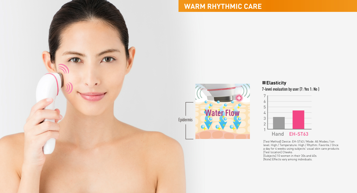 Choose your favorite rhythmic vibration for skin lifting and a warm massage
