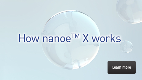 "A link to the ""How nanoe™ X works"" page"