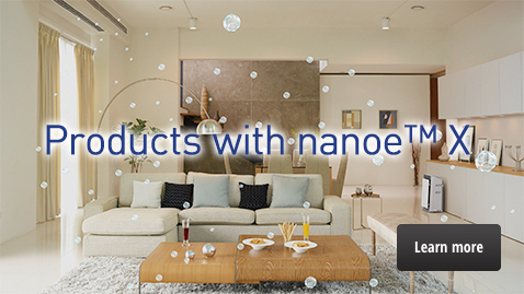"A link to the ""Products with nanoe™ X"" page"