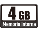 4GB Memoria Interna