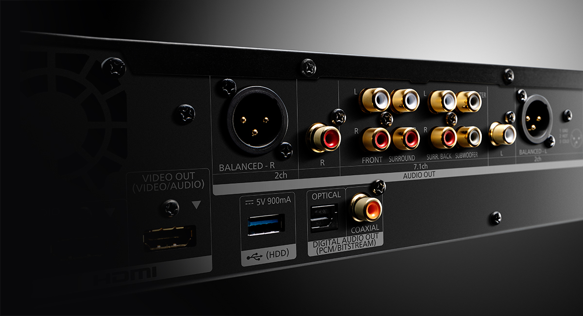 Široký výběr výstupů pro vysokou kvalitu zvuku