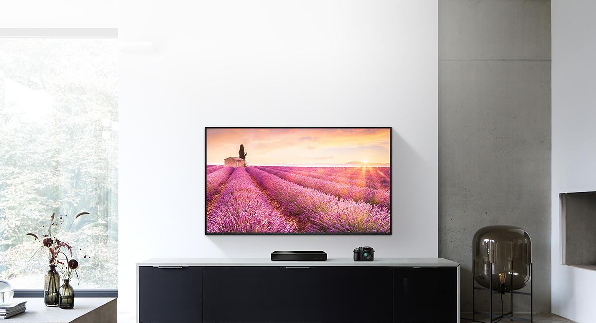 Reprodukce nádherných vzpomínek na velké obrazovce