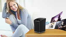 ALL2 offers powerful audio in a compact multi-room speaker