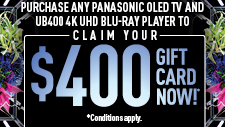 Panasonic OLED 4K Bundle Promotion