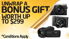 Bonus Gift with selected cameras and camcorders