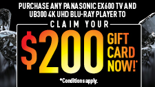 Panasonic UB300 and EX600 TV Bundle Promotion