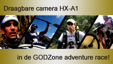 Draagbare camera HX-A1 in de adventure race