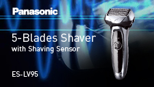 ①5-Blade Wet/Dry Shaver ES-LV95 Product Video