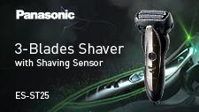 ①3-Blade Wet/Dry Shaver ES-ST25 Product Video