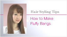 Creating fluffy bangs