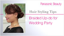 Braided up-do for wedding parties