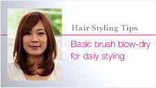 Basic brush blow-dry