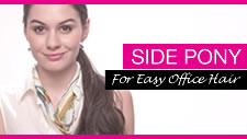 Side Pony for Easy Office Hair