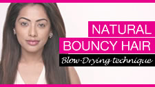 Natural Bouncy Hair Blow-Drying Technique