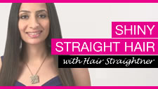 Shiny Straight Hair with a Compact Hair Straightener