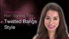 Twisted Bangs Style