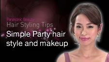 Simple Party Hairstyle and Makeup