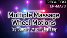 Massage chair wheel motion