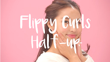 Flippy Curls Half-up Hairstyle