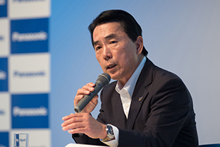 Photo: Executive Officer Masahiro Ido, Director of Panasonic's Tokyo Olympic & Paralympic Enterprise Division