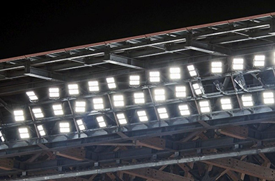 Lighting equipment in the stands