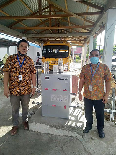 Panasonic Donasikan Water Purification dan Pompa Air Ke Universitas Gorontalo