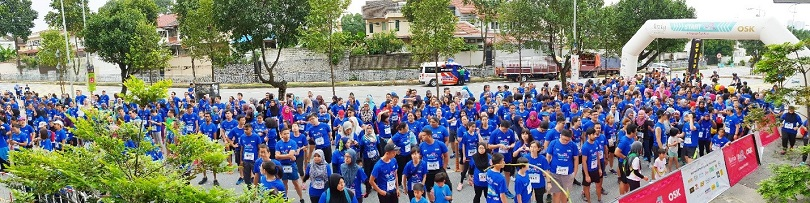 1,000 of participants gathered at starting point for the Zumba session. #MakanFunRun – Panasonic Malaysia