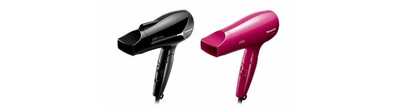 New Compact, Lightweight Hair Dryer EH-NE64 and EH-ND63 Featuring 2000W Powerful Airflow for Fast Hair Drying with Ion Conditioning