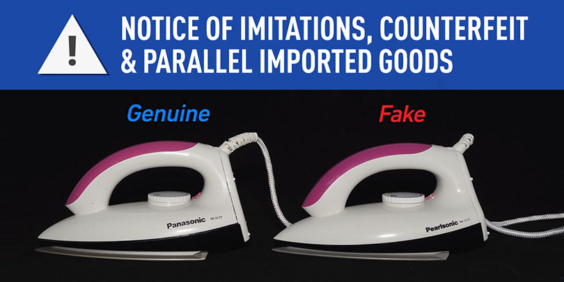 NOTICE OF IMITATIONS, COUNTERFEIT & PARALLEL IMPORTED GOODS