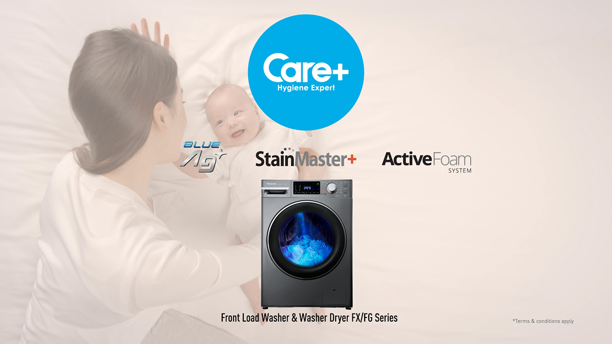 PANASONIC'S NEXT-GEN INTELLIGENT FRONT LOAD WASHER DRYER AND WASHER SERIES WITH HYGIENE AND SMART SENSING TECHNOLOGY