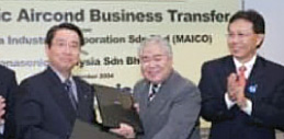 Photo of Air-conditioner business transferred from Matsushita Industrial Corporation Sdn. Bhd.(MAICO) to Panasonic Malaysia